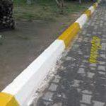 رنگ امیزی جداول خیابان