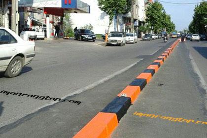 رنگ جدول خیابان ها