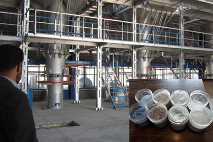 تولید دانه های کروی شیشه ای