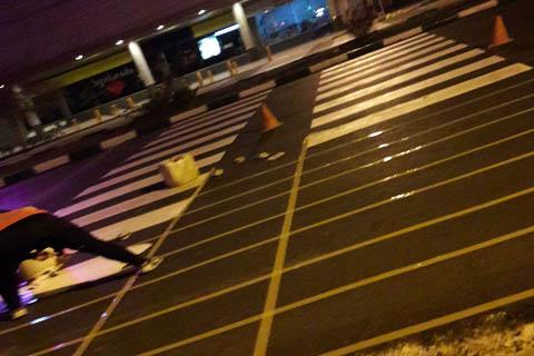 خط کشی با رنگ ترافیکی