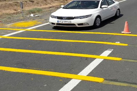 رنگ خط کشی جاده